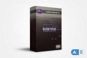 FlatPackFx – Advance Glitch Titles for Premiere Pro