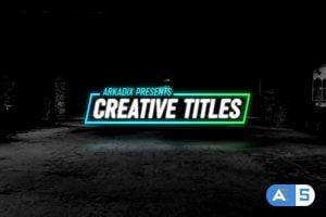 Videohive – Creative Titles 4k – 24911916
