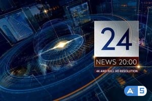 Videohive – Breaking NEWS 24 TV Broadcast Package/ Business and Political Summit/ Glass Cube Intro/ HUD UI Text 14273486