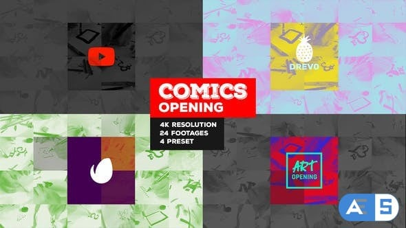 Videohive – Fast Comics Opening/ Art Intro/ Kids Cartoon Tv Broadcast Intro/ Teens Youtube Channel/ Family Tales 22091637