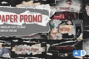 Videohive – Paper Promo/ Stomp Typography/ Torn Newspaper Promotion/ Social Presentation Intro/ Drum Beat Rhythm – 22564714