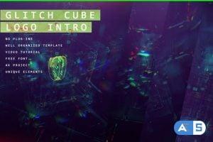 Videohive – Glitch Cube Logo 4k Intro/ Youtube Blog/ Digital Distortion/ Error and Bad Signal/ Glass Aberration 24103918