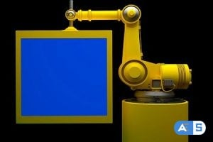 Videohive Robot and Monitor With Blue Screen 10735494