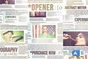 Videohive Newspaper Titles, Urban Typography Slideshow 8861193