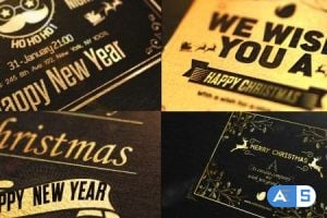 Videohive – Christmas Golden Card 19047070