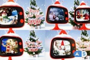 Videohive – Christmas retro TV – 806774