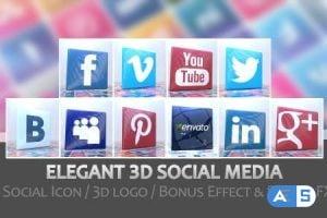 Videohive – Elegant 3D Social Media – 6461079