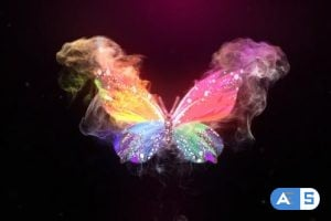 Videohive – Glowing Butterfly Logo Reveal 14279964