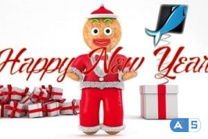 Videohive – Happy New Year with Gingerbread – 19195558