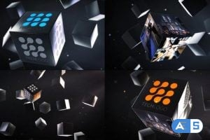 VideoHive Abstract Business Cubes Logo Reveals 23389823