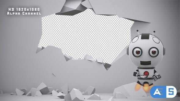 VideoHive Robot SS2 – Wall Destruction 10895637