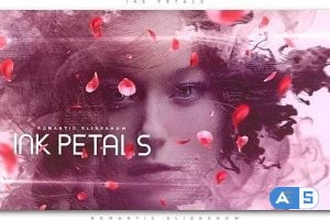Videohive – Ink Petals Romantic Slideshow 21296043