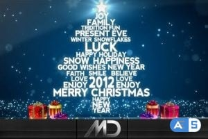 Videohive – Christmas / New Year Flying Words 918559