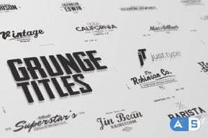 Videohive Just Type – Grunge Titles 24031996