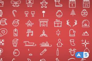 MotionArray Minimal Christmas Icons 20845