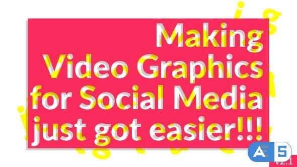 Videohive – Social Media Video Graphics V1.3 20033572