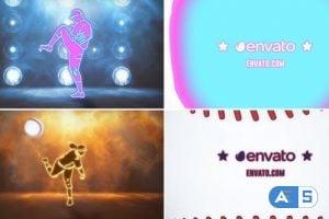 Videohive Neon Baseball Logo 25089570