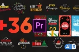 Videohive – Christmas Elements Pack-MOGRT 25296111