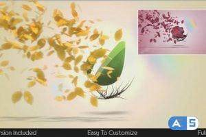 Videohive Flying Leaves Logo Reveal 5600095