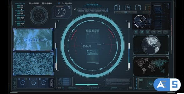 Videohive  HUD Virtual Radar Hologram Interface System Cockpit 18943315