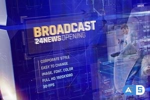 Videohive – Broadcast 24 News Opening Id/ Business and Corporate Meeting/ Glass Cube Intro/ HUD UI Breaking News 20764207
