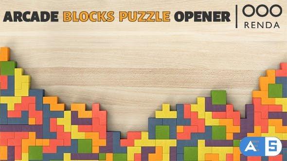 Videohive – Arcade Blocks Puzzle Opener 21317006