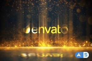 Videohive Golden Particles Glitter Logo 24895583