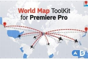 Videohive – World Map ToolKit for Premiere Pro 23810482