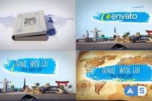 Videohive – Travel Book Logo Reveals – 23113115