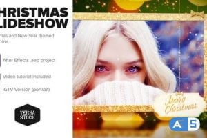 Videohive – Merry Christmas and a Happy New Year Slideshow – 25194925