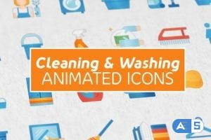 VideoHive Cleaning & Washing Modern Flat Animated Icons 25260392