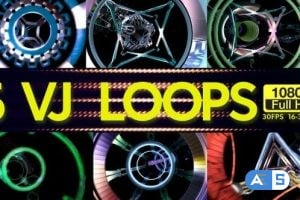 Videohive – Flying Through Tunnels VJ Loops 5 In 1 23138247