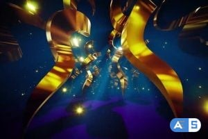 Videohive – Gold Helix Stage Tunnel 24677420