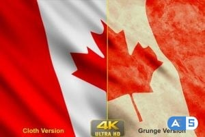 Videohive – Canada Flags 24631076