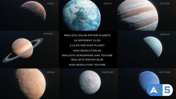 Videohive – Solar System 4K 24641039