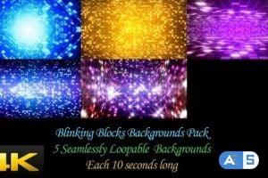 Videohive – Blinking Blocks Backgrounds Pack 24624382