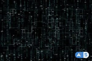 Videohive – Computer Network With Matrix Background 24669167