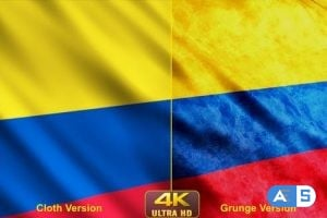 Videohive – Colombia Flags 24631115