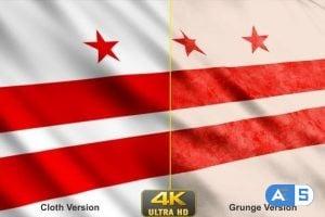 Videohive – Washington Dc Flags 24629406