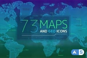Videohive – 73 Maps And Geo Icons 25256342