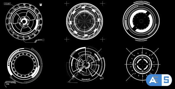 Videohive HUD Circle Elements 16290765