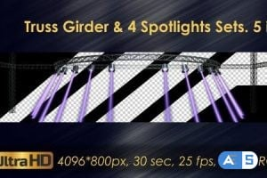 Videohive – Truss Girder And Spotlight Sets 20974462