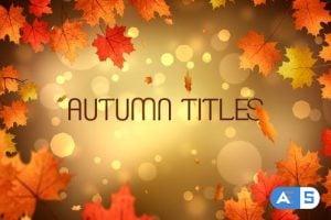 Videohive Autumn Titles 24779626