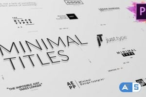 Videohive Just Type   Minimal Titles For Premiere Pro 23999940