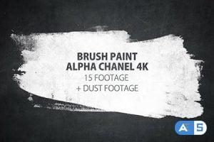 Videohive 16 Paint Brush Stroke Transitions Reveal Pack Matte/ Oil Art Dust Ink Grunge Texture/ Chalk Board 16143561