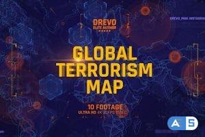 Videohive Global Terrorism Map 4K/Politics and Economic Presentations/ World Terror Infographic/ Bomb & Weapon 21486167