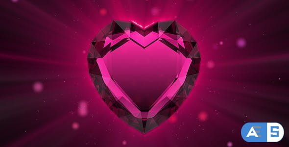 Videohive Valentine`s ruby heart 86216