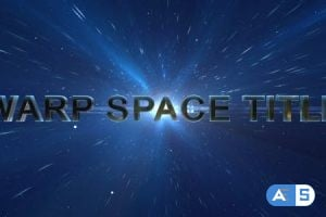 Videohive Warp Space Title 20287205