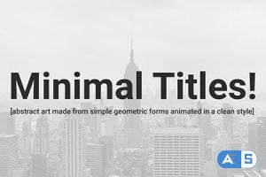 Videohive 15 Clean and Minimal Titles! 19527019