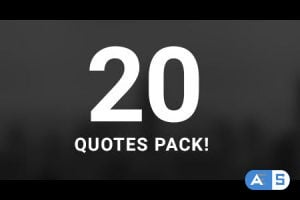 Videohive 20 Quotes Pack 20108505